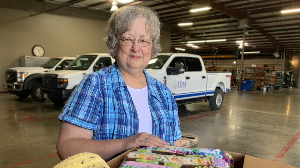 garland woman donates blankets for children after disasters