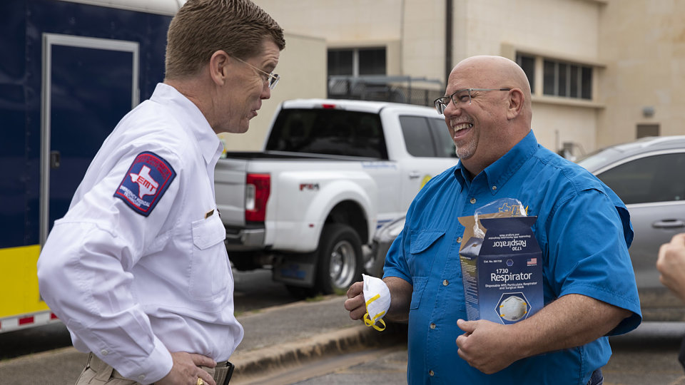 tbm disaster relief director dwain carter with chief kidd