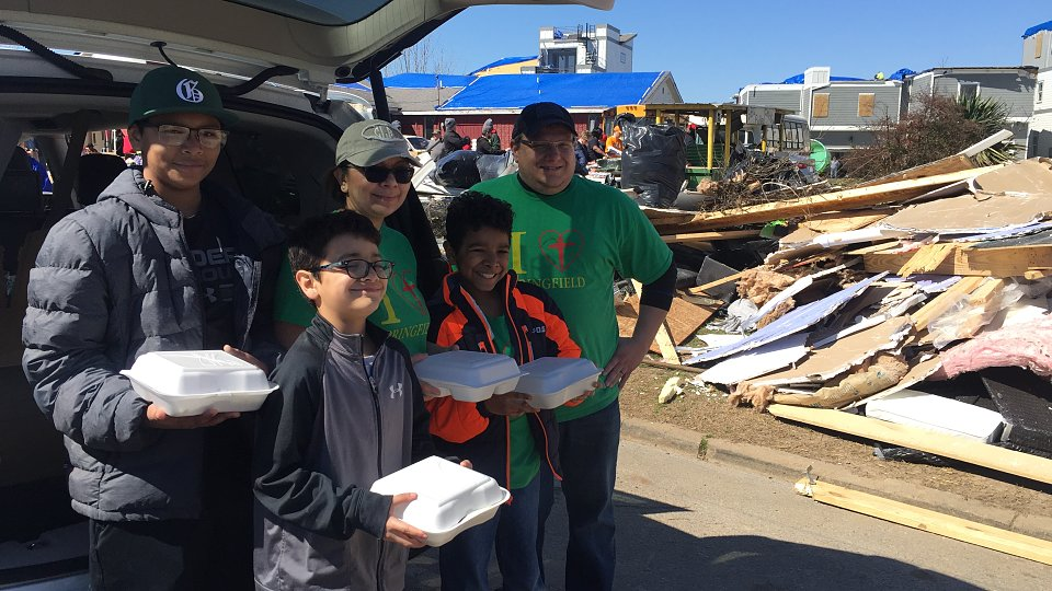 tbm disaster relief volunteers distribute meals after tennessee tornado