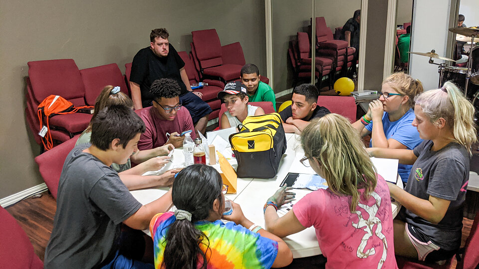the duffle bag missions lab brings students together to learn about misions