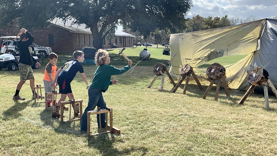 tomahawk through at royal ambassador campout and missions mania